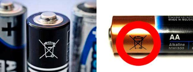 батарейки нельзя выбрасывать