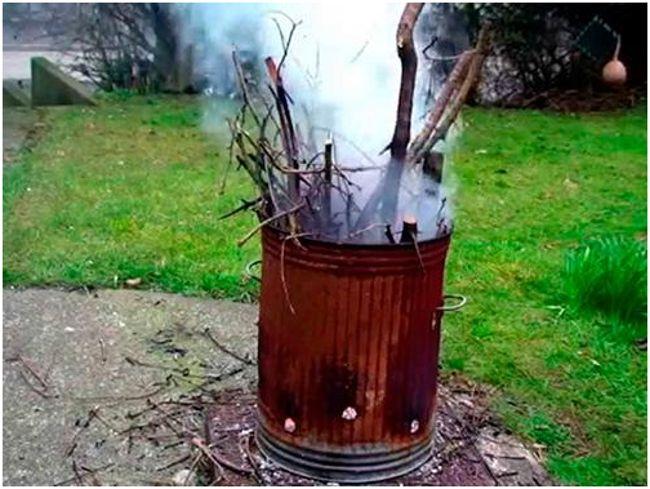 Печь для сжигания мусора на даче своими руками из бочки фото 142