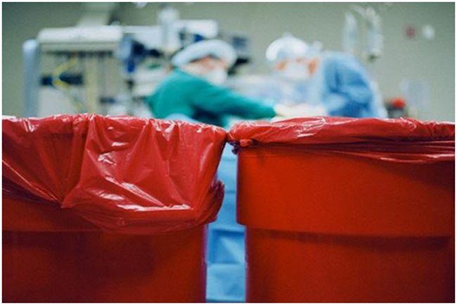 красные баки под мед отходы