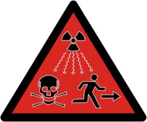знак об опасности РАО