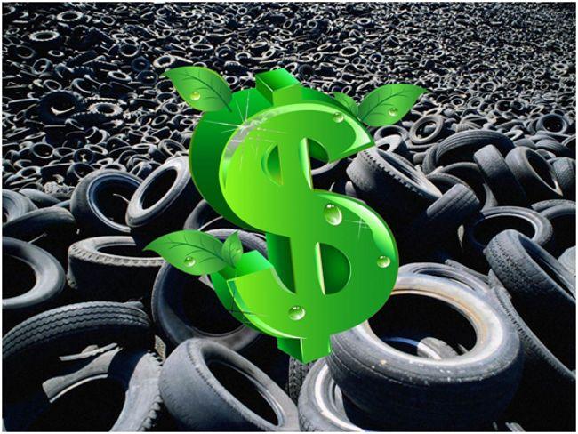 доллар на фоне шин