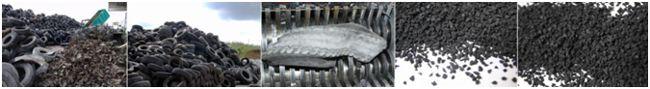 этапы переработки шин в крошку