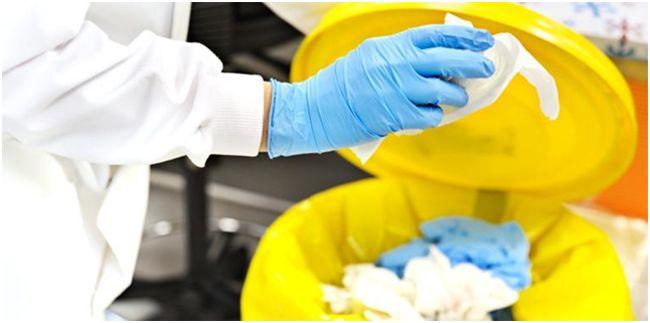 использованные перчатки