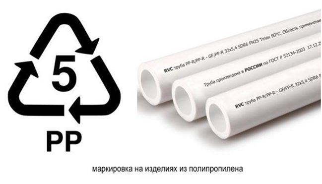 маркировка на изделиях из полипропилена