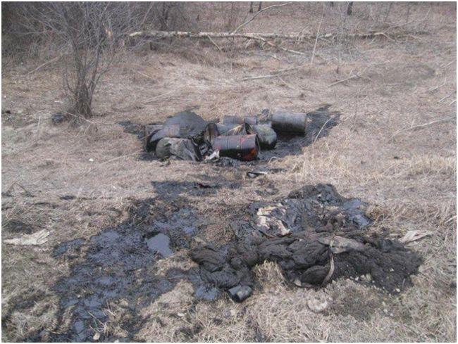 отходы масла загрязняющие почву