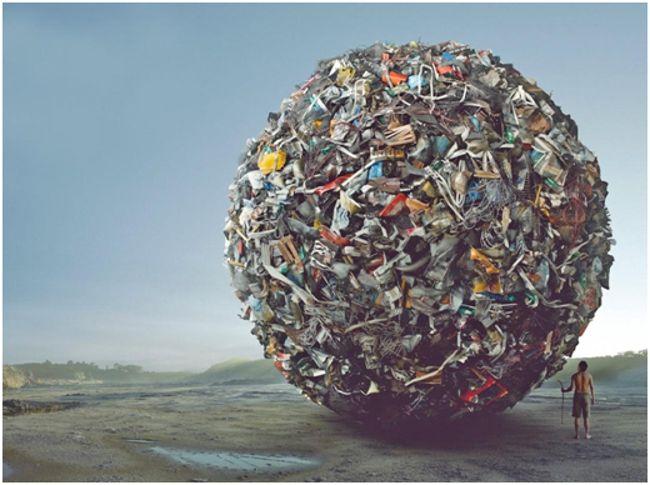ком из мусора
