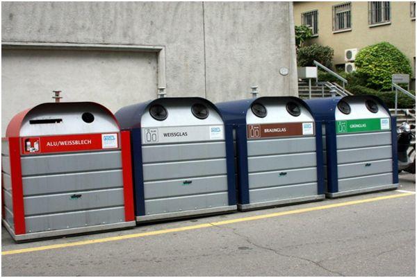 контейнеры под разные виды мусора
