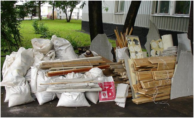 мусор от ремонта