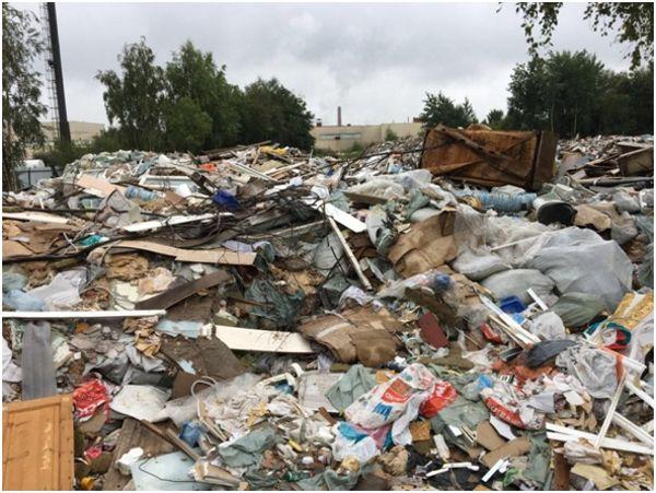 свалка с строительным мусором