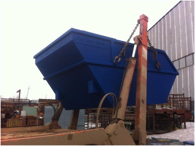 установка мусорного контейнера