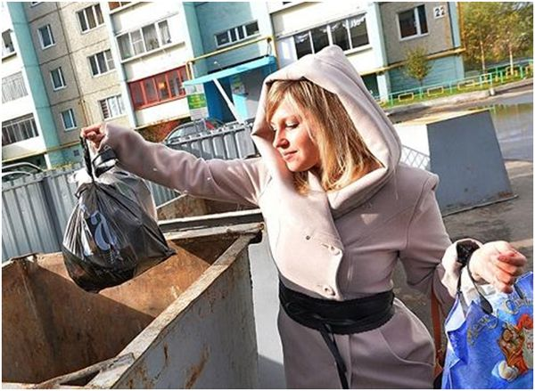 вынос мусора в бак