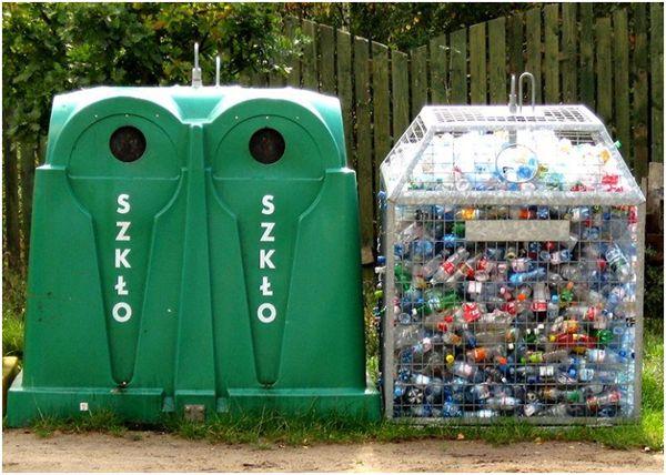 зеленые контейнеры под мусор
