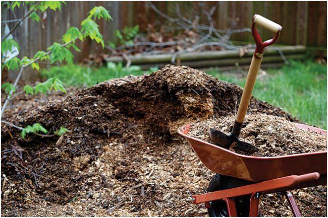 компост на огороде