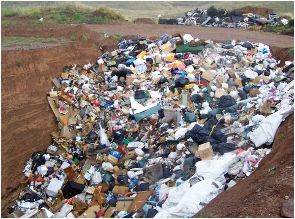 отходы в яме