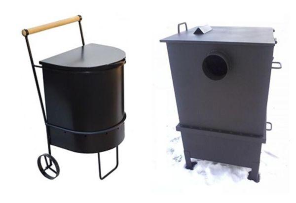 печи для сжигания мусора