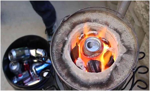 сжигание алюминиевой банки