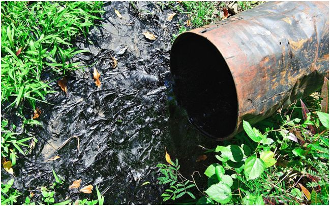 выброс химических отходов в среду