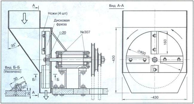 чертеж измельчителя