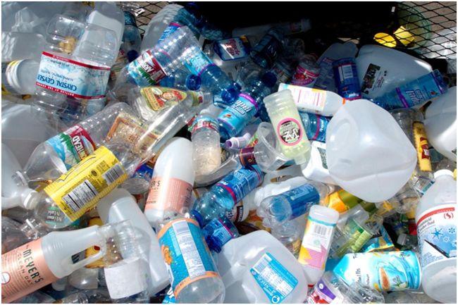 использованные бутылки