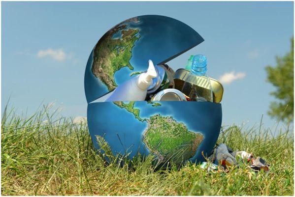 из Земли мусор