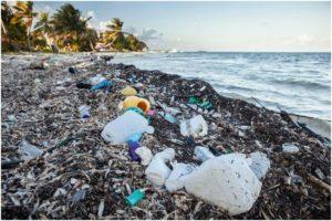 пластиковые отходы на берегу моря