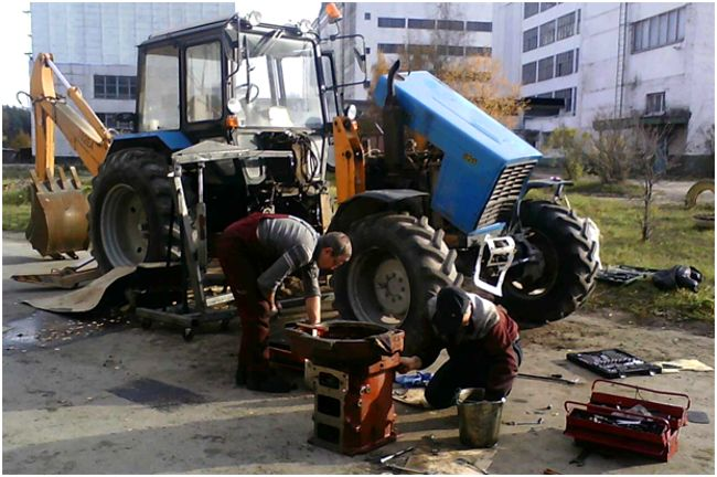 разборка трактора