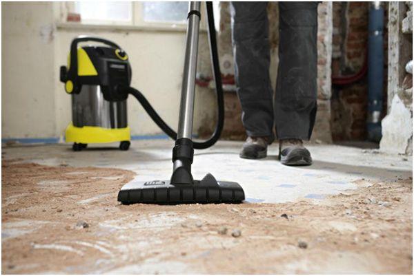 уборка строительной пыли пылесосом