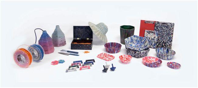 пластиковые изделия после переработки
