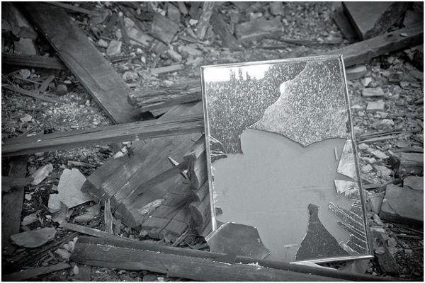 обломки зеркала