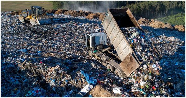 выгрузка мусора на полигон