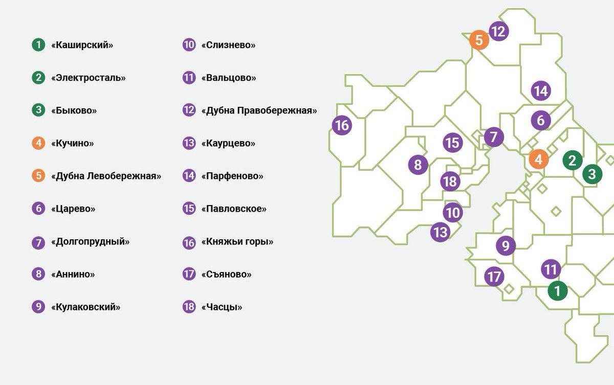 Полигоны ТКО в Московской области