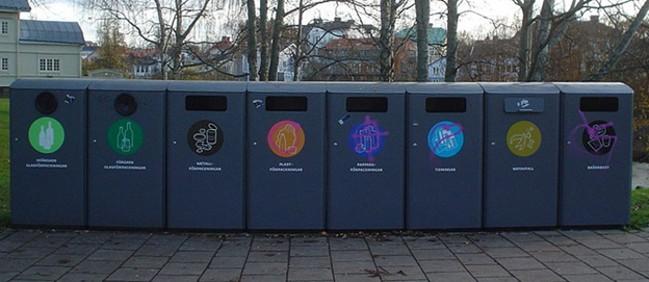 Контейнеры для сбора мусора в европе