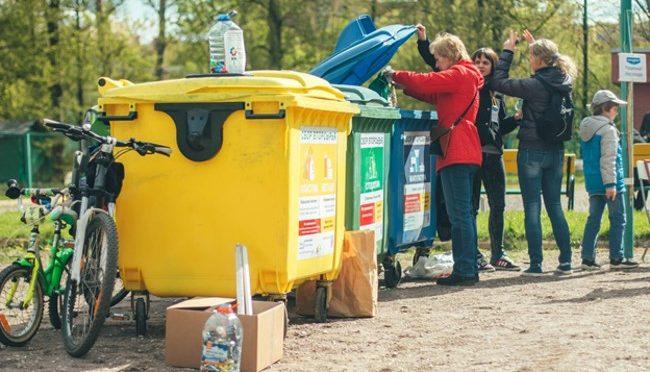 Сортировка мусора по контейнерам